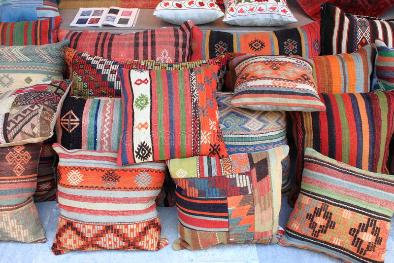 Cushions shop royalty free stock photo
