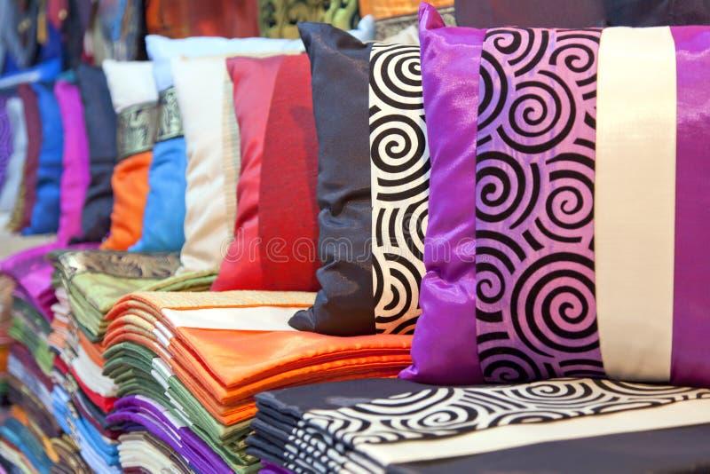 cushions silk arkivfoto
