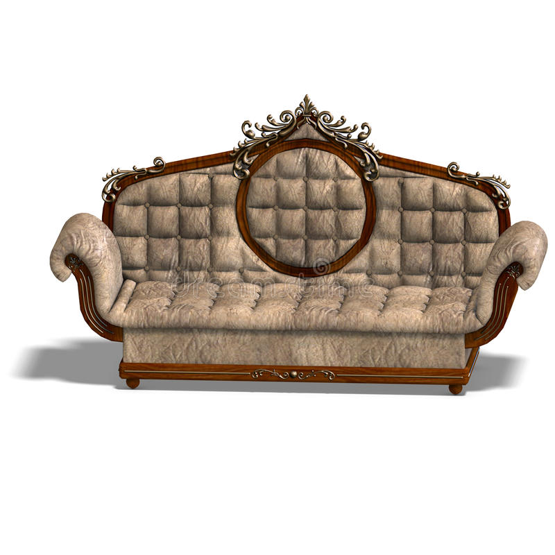 Download Cushy sofa of louis XV. stock illustration. Image of king - 10926948