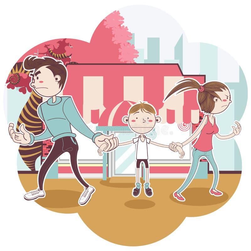 Custódia de criança ilustração do vetor