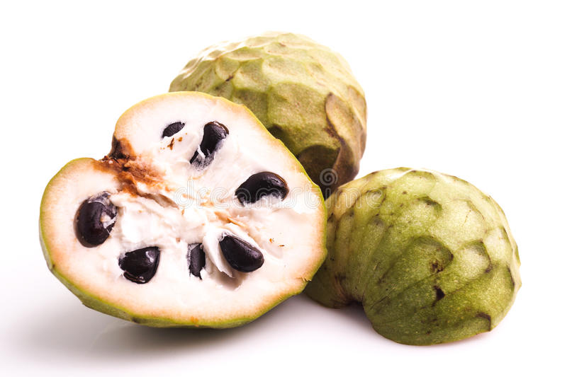 Custard apple or cherimoya stock photo