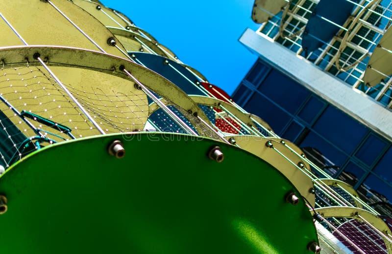 Custard Birmingham mieszkania fabryczni balkony zdjęcia royalty free