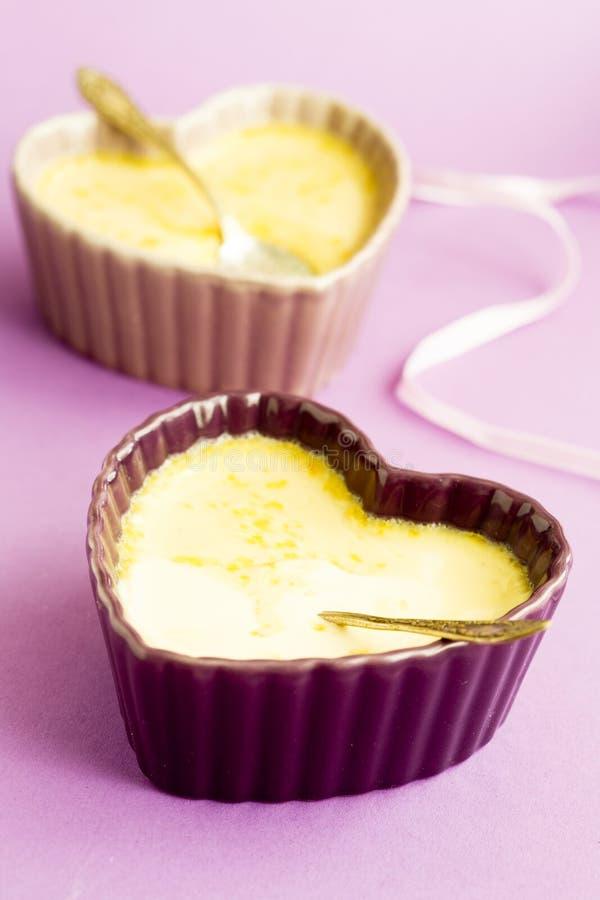 Custard dessert royalty free stock image