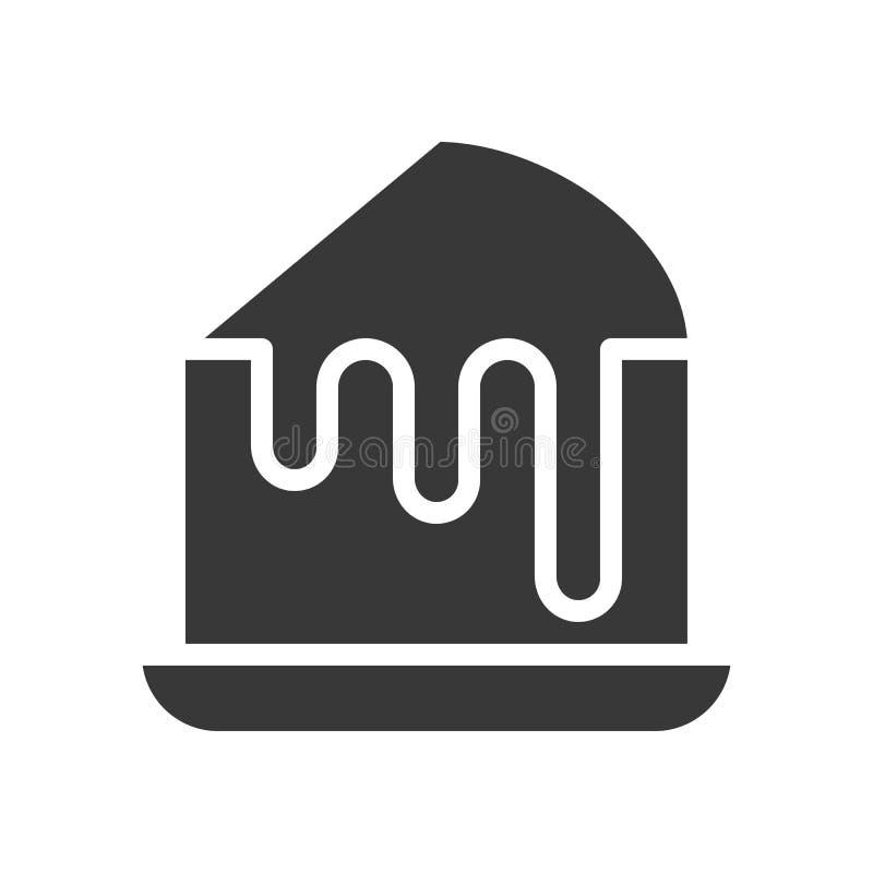 Custard tort, piekarnia i ciasto set, glif ikona ilustracja wektor
