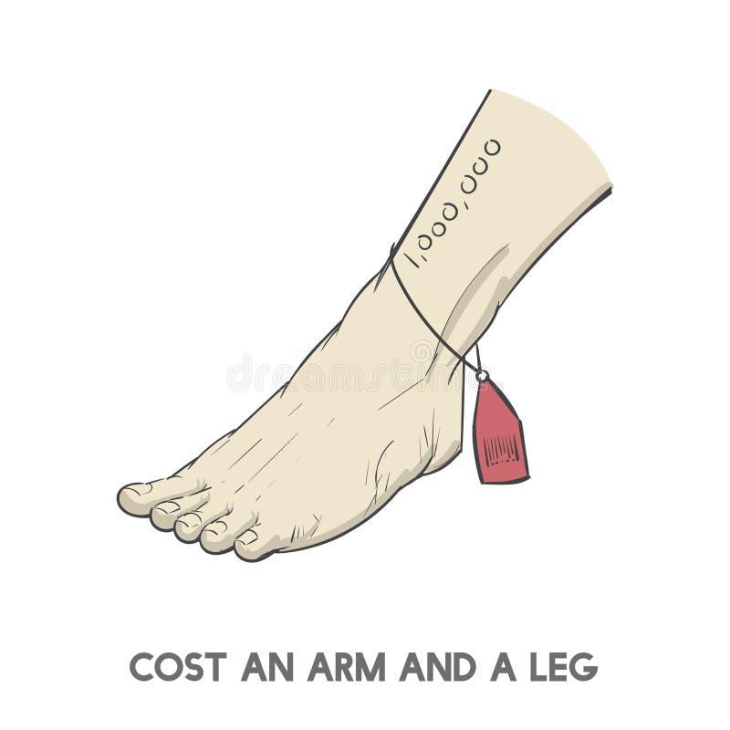 Custe um braço e um pé ilustração stock