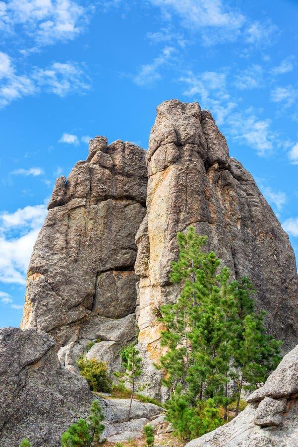 Custer国家公园岩层 库存照片