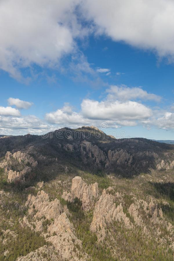 Custer国家公园空中风景 库存照片