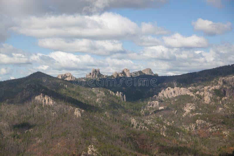 Custer国家公园鸟瞰图,SD 免版税图库摄影