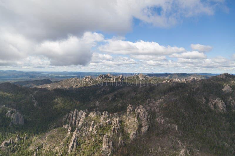 Custer国家公园鸟瞰图,SD 图库摄影