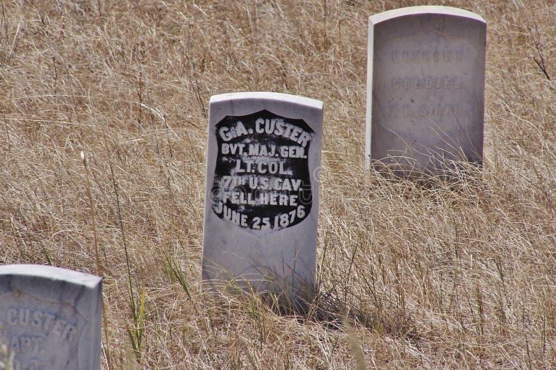 Custer的前个立场 免版税库存图片