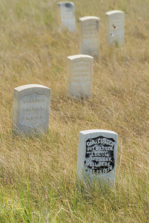 Custer duurt Tribune stock foto's