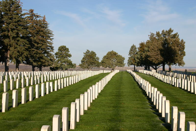 Custer National Cemetery lizenzfreie stockbilder