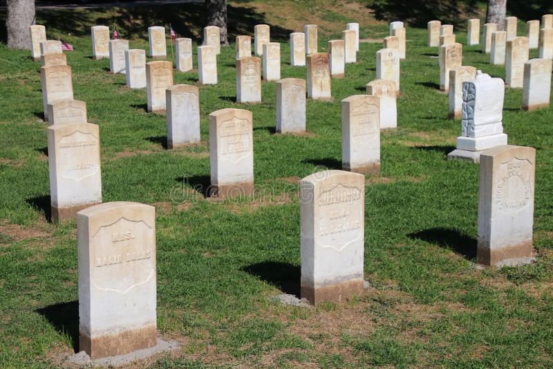 Custer National Cemetery au ressortissant de champ de bataille de Little Bighorn image libre de droits