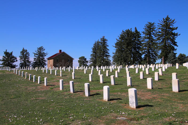 Custer National Cemetery at Little Bighorn Battlefield National royalty free stock photography