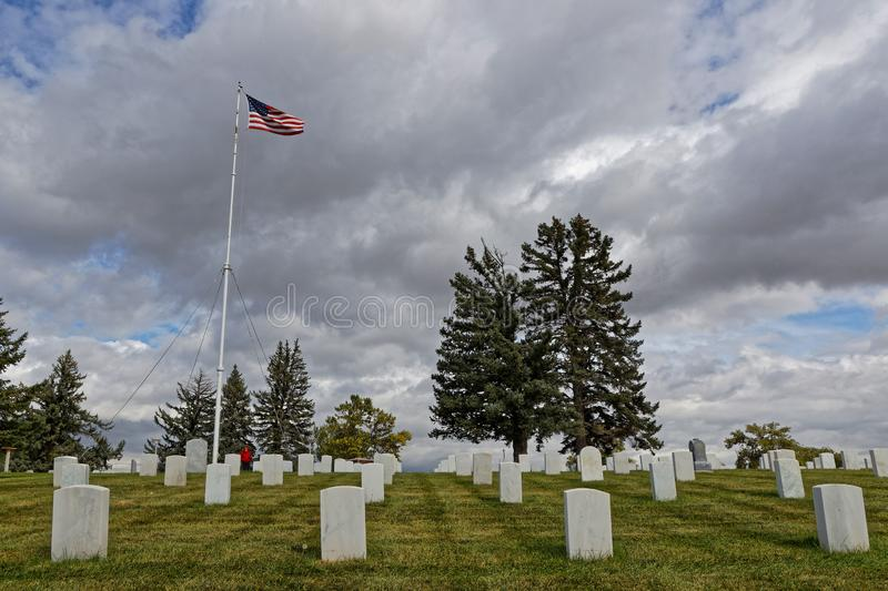 Custer National Cemetery at Little Bighorn royalty free stock photos