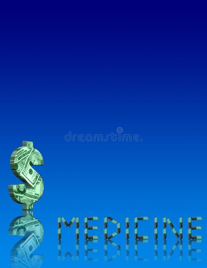 Custo da medicina ilustração stock
