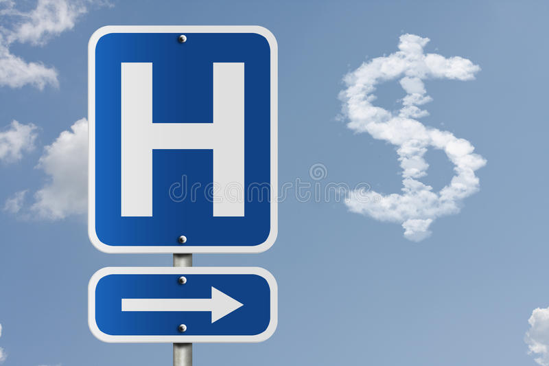 Custo de ir ao hospital foto de stock royalty free
