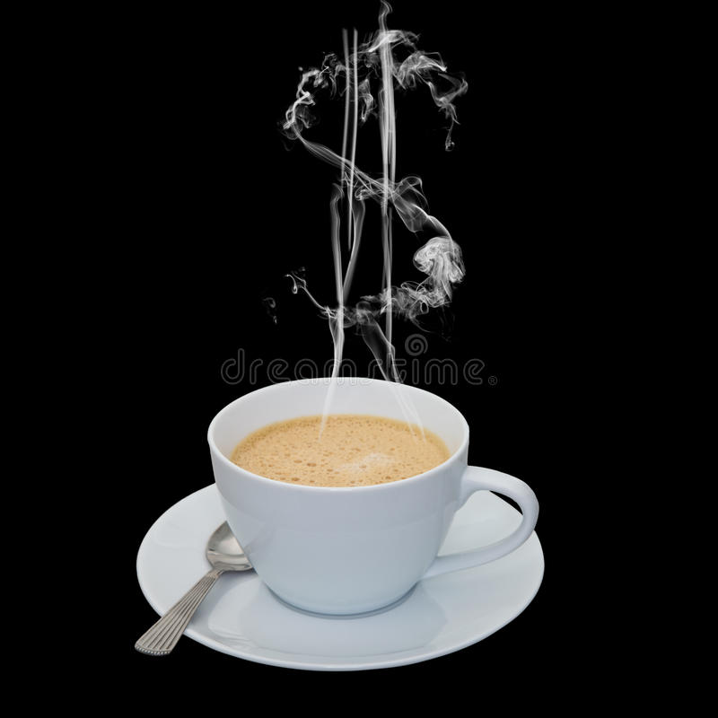 Custo do café foto de stock