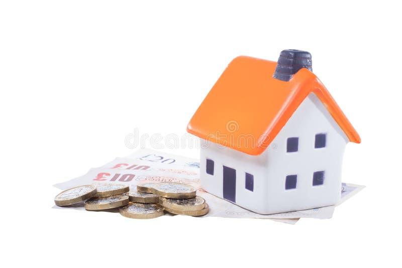Custo do conceito do aluguel de casa imagem de stock