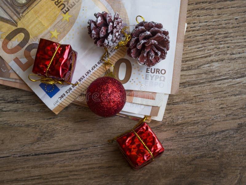 Custo do conceito do Natal fotos de stock