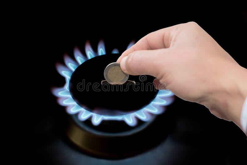 Custo do gás fotografia de stock