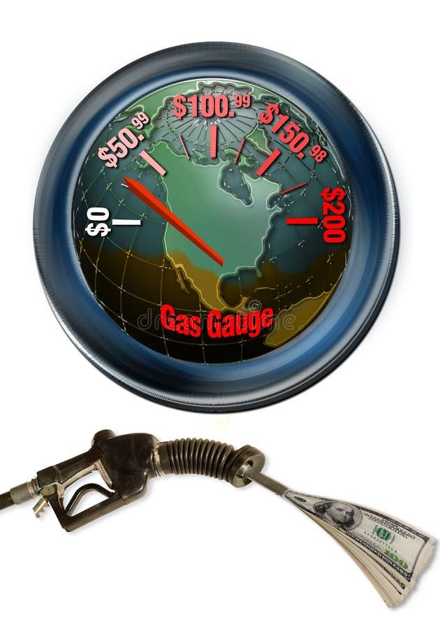 Custo elevado da gasolina imagens de stock royalty free