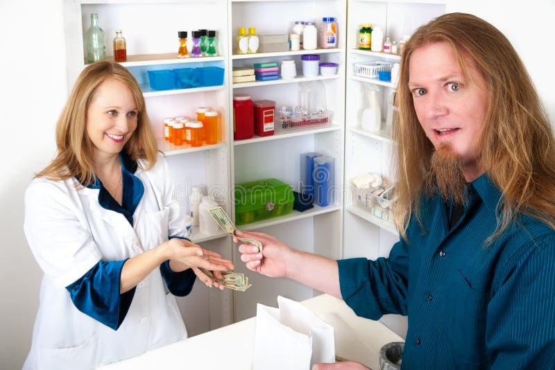 Custo elevado dos cuidados médicos imagens de stock
