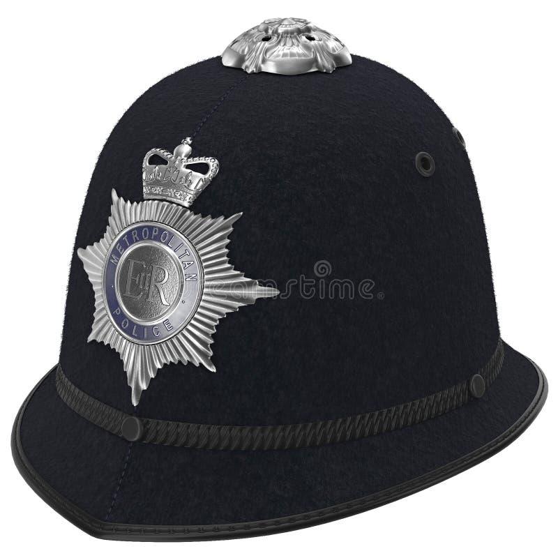 Custode metropolitano Helmet della polizia di Londra su bianco illustrazione 3D royalty illustrazione gratis