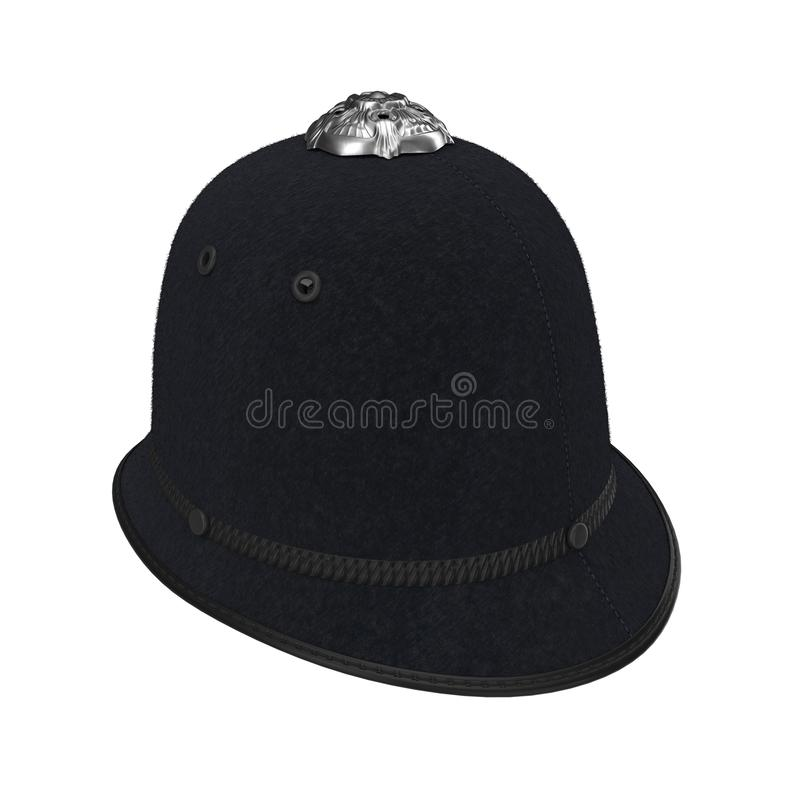 Custode metropolitano Helmet della polizia di Londra su bianco illustrazione 3D illustrazione di stock