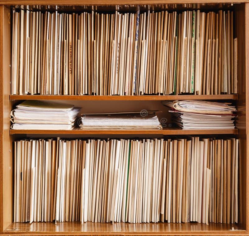 Custodia de expedientes imagenes de archivo