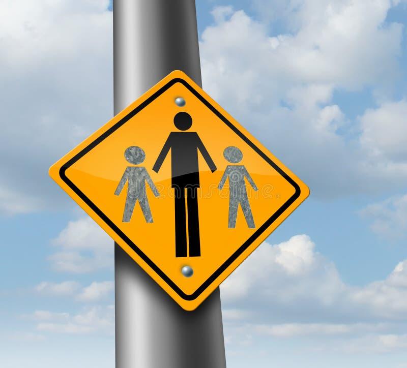 Custodia de los hijos ilustración del vector