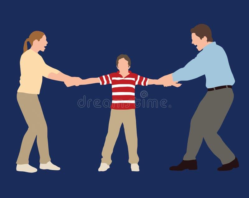 Custody Battle vector illustration