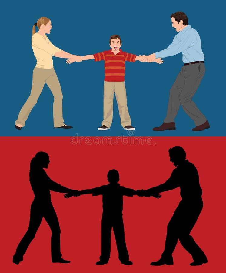 Download Custody Battle stock illustration. Illustration of people - 8277192