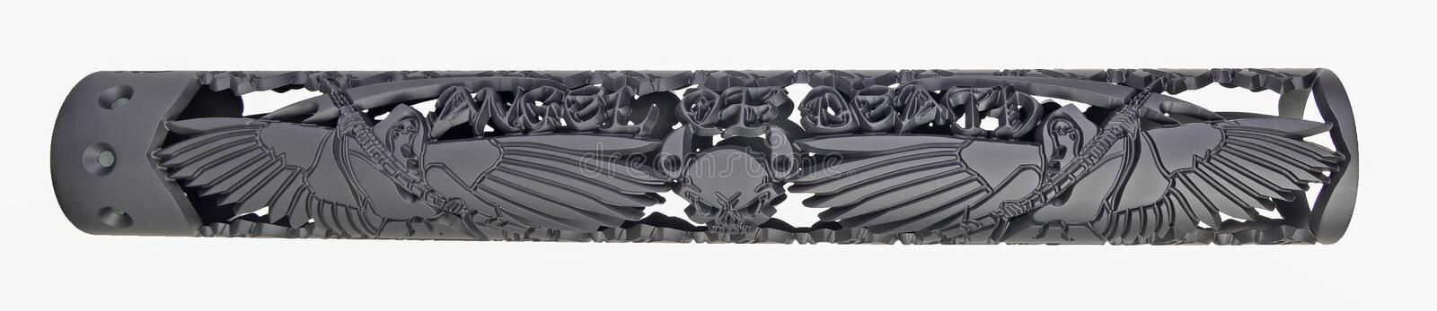 Custom Angel of Death Hand Guard for an AR15 royalty free stock images