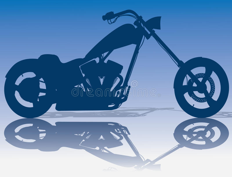 Download Custom Blue Chopper Stock Image - Image: 10238211
