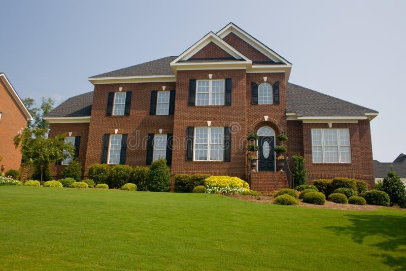 Custom brick home stock images