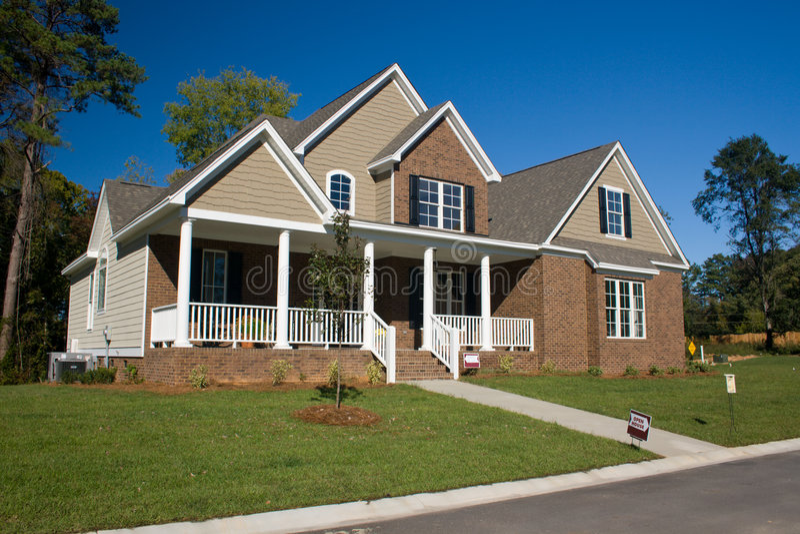 Custom brick home 7 stock image