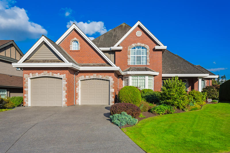 Custom built house. royalty free stock image
