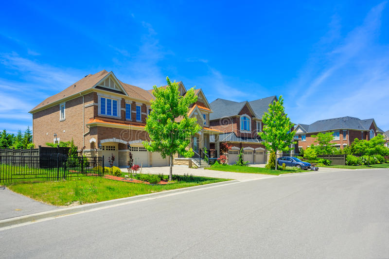 Custom built luxury house in the suburbs of Toronto, Canada. stock photos