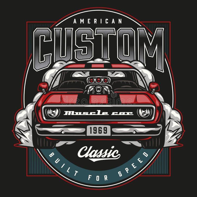 Free Custom Car Vintage Colorful Emblem Stock Photo - 219420810