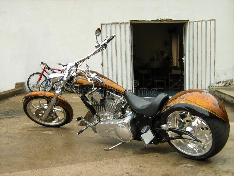Custom Chopper Motorcycle royalty free stock photography