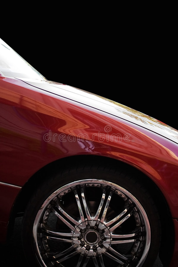 Custom Chrome Rims stock images