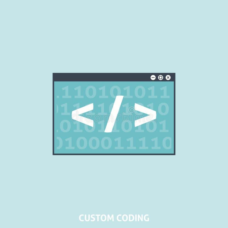 Custom Coding royalty free illustration