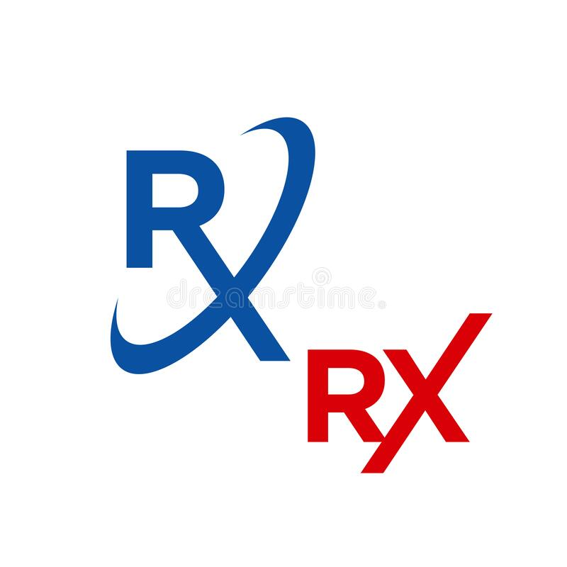 Free Custom Creative RX Logo Design Vector Medical Treatment Icon Symbol Illustration Royalty Free Stock Photo - 170349605