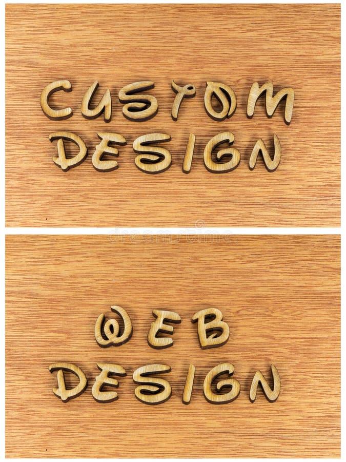 Custom design web website internet royalty free illustration