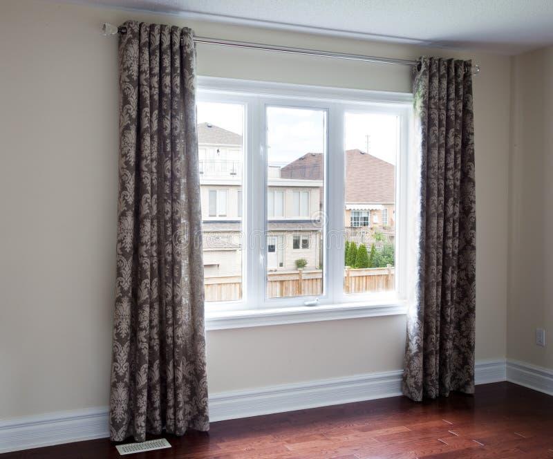 Download Custom Drapery stock photo. Image of modern, window, room - 11835370