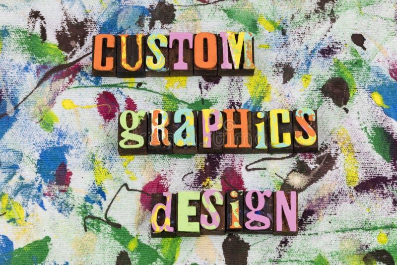 Custom graphics design web site royalty free stock photos
