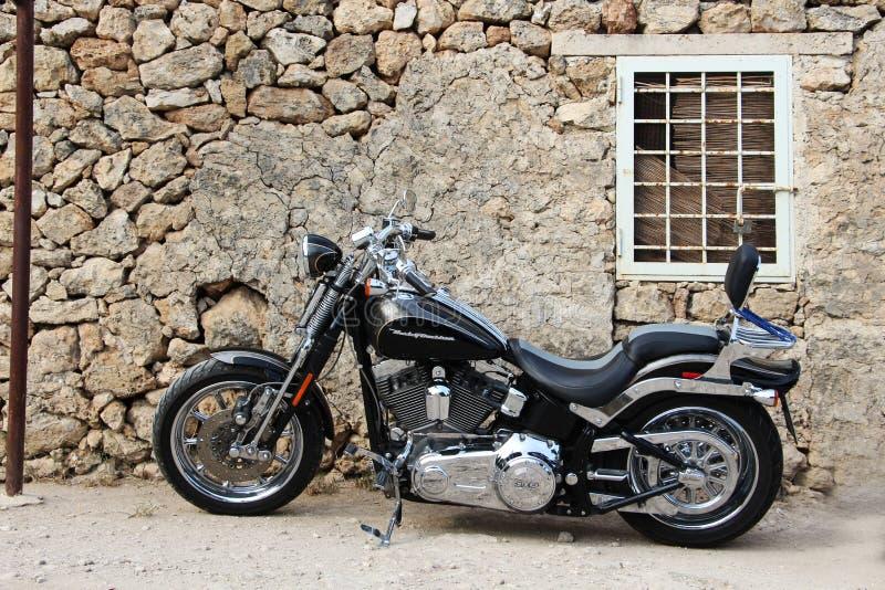 Custom harley motorcycle stock photo