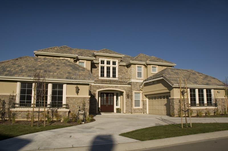 Custom home stock image