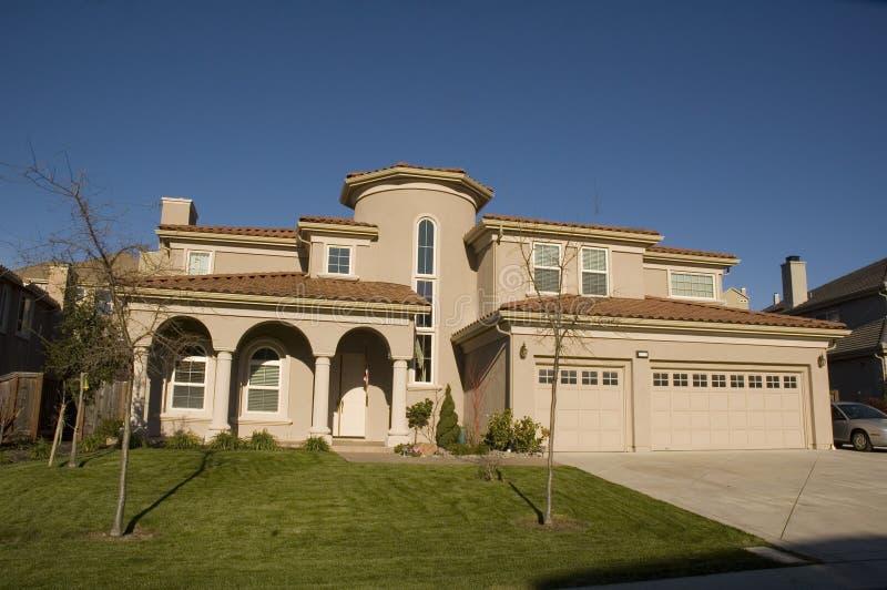 Download Custom home stock image. Image of windows, executive, lights - 3745983